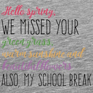 Spring Break / Springbreak: Hello Spring, we misse - Männer Premium T-Shirt