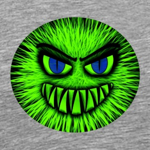 Monster green - Evil face - Men's Premium T-Shirt