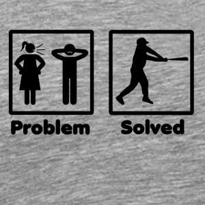 problem solved baseball homerun - Men's Premium T-Shirt