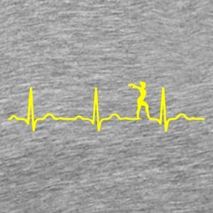 ECG HEARTBEAT BALLERINA DANCING Yellow - Men's Premium T-Shirt