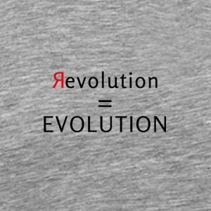 Revolution is Evolution - Mannen Premium T-shirt