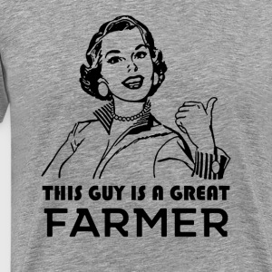 Great farmer. Gifts for farmers - Men's Premium T-Shirt