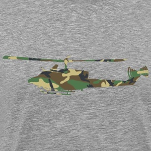 Camouflage Helicopter - Men's Premium T-Shirt
