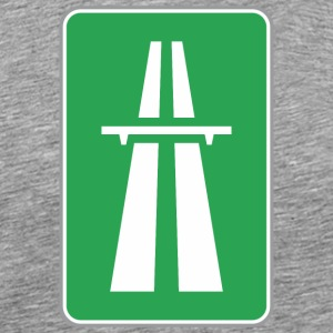 Road sign green way - Men's Premium T-Shirt