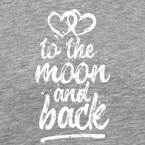 Love you to the moon and back - white - Men's Premium T-Shirt