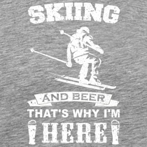 Skiing and Beer Ski Design - Men's Premium T-Shirt