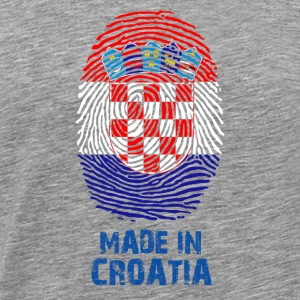 Croatia flag - - Made in Croazia regalo - Maglietta Premium da uomo