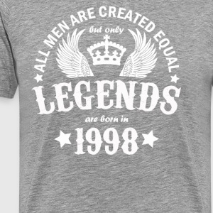 All Men Are Created Equal But Only Legends Are Bor - Men's Premium T-Shirt