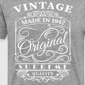 Vintage Made in 1942 Original - Männer Premium T-Shirt