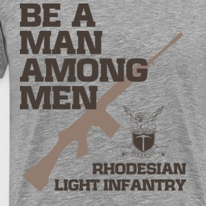 RHODESIAN LIGHT INFANTRY - Herre premium T-shirt