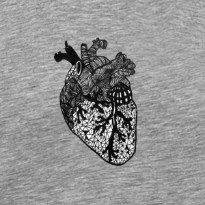 Heart, anatomy, Zentangle - Men's Premium T-Shirt