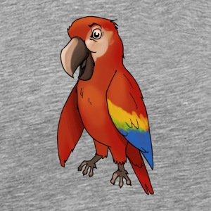 Parrot bird birds cage canary finch - Men's Premium T-Shirt
