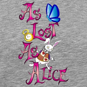 As lost as alice - Men's Premium T-Shirt