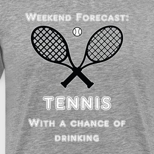 Weekend prognose. Tennis - Herre premium T-shirt