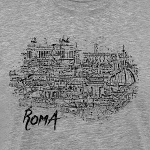 Roma / Rome motif with city sketch