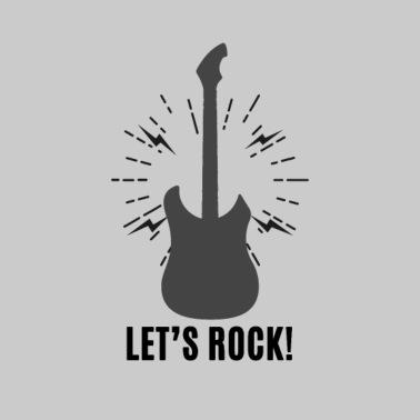 47cd40bbc35 Let s rock with guitar - Men s Premium T-Shirt