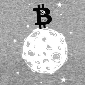 Bitcoin to the moon! Black version.