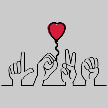 På elsker tegnsprog dig 7 tegn