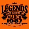 Legends are born in march 1987 - Men's Premium T-Shirt