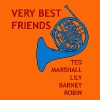 very best friends blue french horn - Herre premium T-shirt