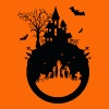 Haunted House - Halloween Design - Men's Premium T-Shirt