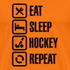 Eat Sleep Hockey Repeat - T-shirt Premium Homme