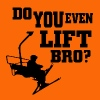Ski - do you even lift bro - Men's Premium T-Shirt