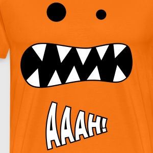 Söt Monster / Skräck Scream Halloween anda - Premium-T-shirt herr