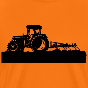 Tractor with cultivator - Premium-T-shirt herr