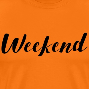 Weekend Friday Saturday Sunday gift - Men's Premium T-Shirt
