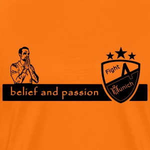Fight 4 Munich - belief and passion - Männer Premium T-Shirt