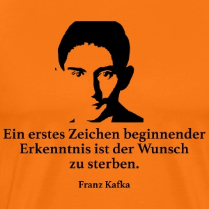 Kafka: A first sign of beginning knowledge - Men's Premium T-Shirt