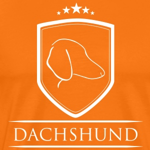 DACHSHUND COAT OF ARMS - Men's Premium T-Shirt