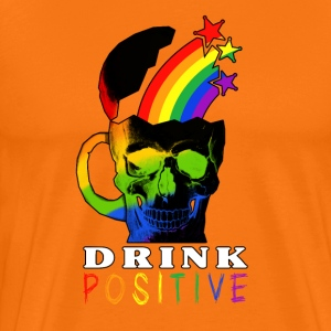 Rainbow Skull Drink - Premium T-skjorte for menn
