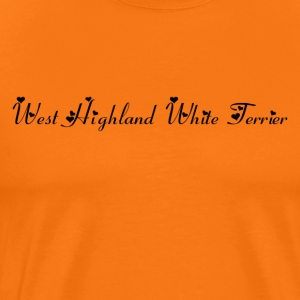 West Highland Whitte Terrier dog , pedigree dog - Men's Premium T-Shirt
