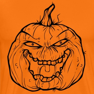 Halloween Pumpkin - The Boss - Men's Premium T-Shirt
