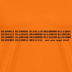 Binary Code Can you read this? lettering - Men's Premium T-Shirt
