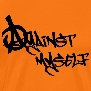 against myself - Men's Premium T-Shirt