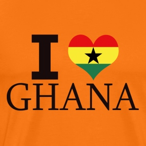 I LOVE GHANA - Premium T-skjorte for menn