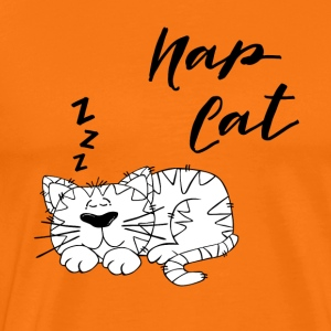 Nap Cat - Premium T-skjorte for menn