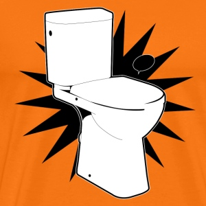 Vector toilet (toilet Super) - Men's Premium T-Shirt