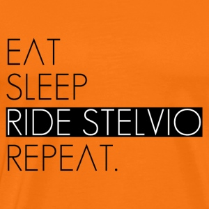 EAT, SLEEP, RIDE STELVIO, REPEAT. - Maglietta Premium da uomo