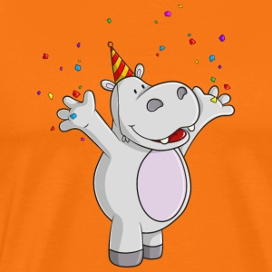 Party hippo comic - Men's Premium T-Shirt