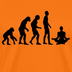 Human Evolution Yoga - Men's Premium T-Shirt