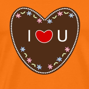 I love you - Gingerbread Heart - Men's Premium T-Shirt