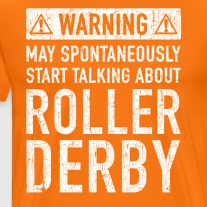 Tweet Roller Derby Design - Premium T-skjorte for menn