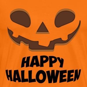 Happy Halloween Face - Premium-T-shirt herr