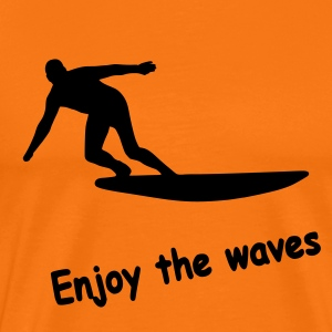 Enjoy the waves - Männer Premium T-Shirt