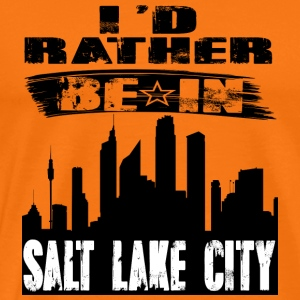 Gave Id snarere være i Salt Lake City - Herre premium T-shirt