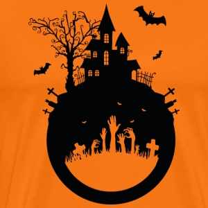 Haunted House - Halloween projekt - Koszulka męska Premium